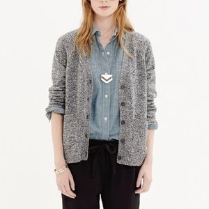 Madewell Texturework Sweater Marbled Gray